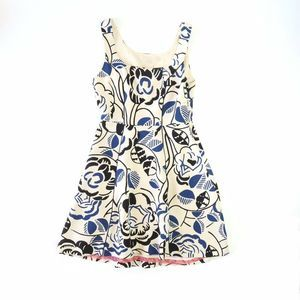 Vanessa Virginia A-Line Pleated Floral Dress Lace